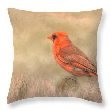 Throw Pillow featuring the mixed media Big Red by Steven Richardson