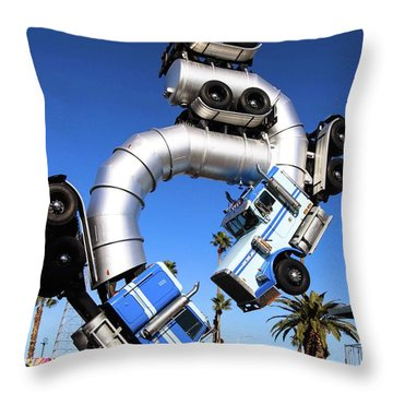 Big Rig Jig Balancing In Vegas Throw Pillow