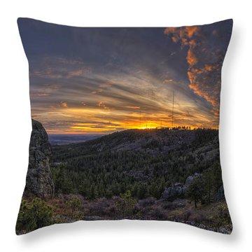 Big Rock Panorama Throw Pillow