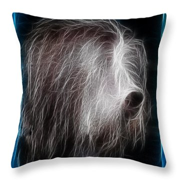 Throw Pillow featuring the photograph Big Shaggy Dog by EricaMaxine  Price