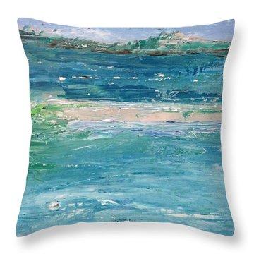 Big Shell Island Throw Pillow