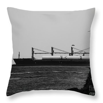 Big Ship Throw Pillow