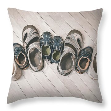 Deck Photographs Throw Pillows