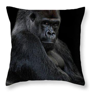 Big Silverback Throw Pillow