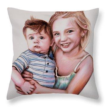 Big Sister Throw Pillow by Dave Luebbert
