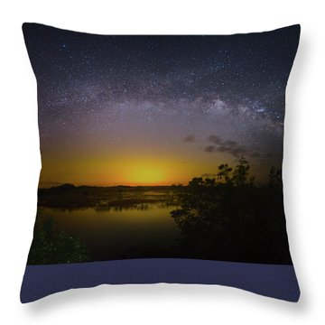 Big Sky Galaxy Throw Pillow by Mark Andrew Thomas
