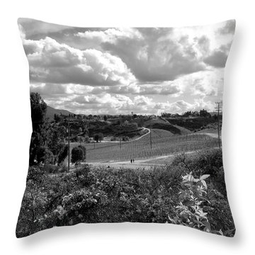 Big Sky In Socal Throw Pillow by Russell Keating