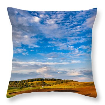 Big Sky Ontario Throw Pillow by Steve Harrington