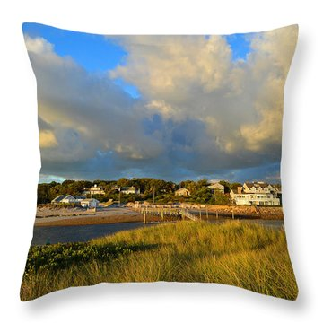 Big Sky Over Sesuit Harbor Throw Pillow
