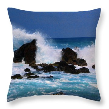 Big Splash Throw Pillow by John Bushnell