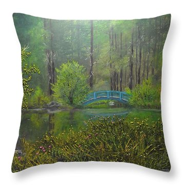 Big Springs Gardens Throw Pillow