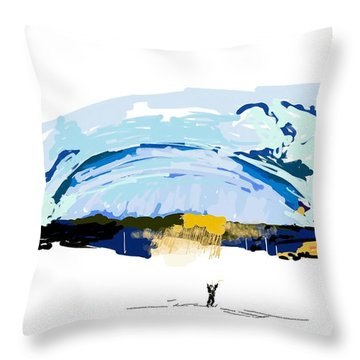 Big Storm Coming Throw Pillow
