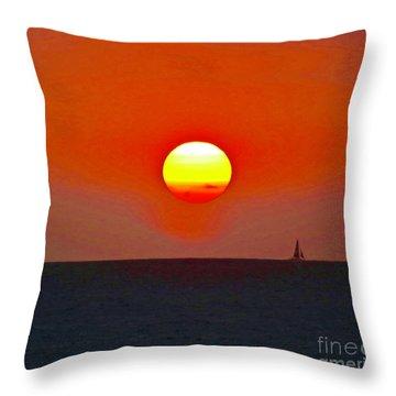 Big Sun Throw Pillow