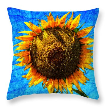 Big Sunflower Throw Pillow