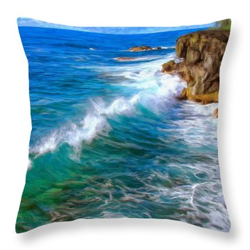 Big Sur Coastline Throw Pillow by Dominic Piperata