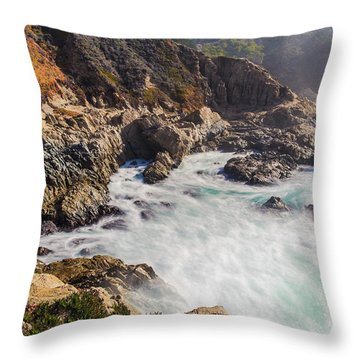 Throw Pillow featuring the photograph Big Sur Coastline View Point by Jingjits Photography