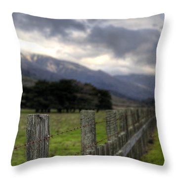 Big Sur Fence Line Throw Pillow