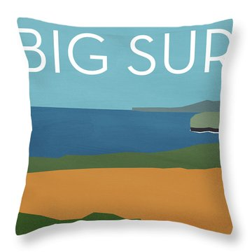 Big Sur Landscape- Art By Linda Woods Throw Pillow by Linda Woods