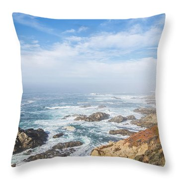 Throw Pillow featuring the photograph Big Sur Sea View by Jingjits Photography