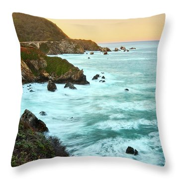 Big Sur Sunrise Throw Pillow