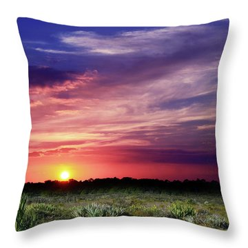 Big Texas Sky Throw Pillow