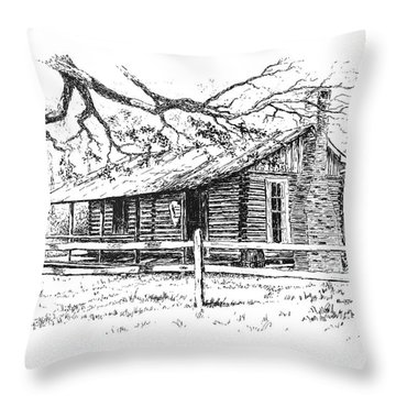 Big Thicket Information Center Throw Pillow
