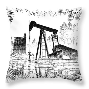 Big Thicket Oilfield Throw Pillow