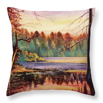 Big Thicket Swamp Throw Pillow