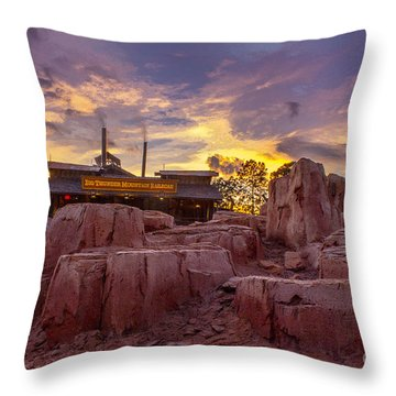 Big Thunder Mountain Sunset Throw Pillow