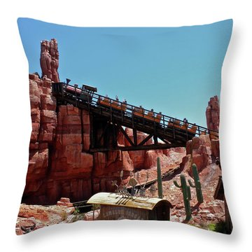 Big Thunder Mountain Walt Disney World Mp Throw Pillow