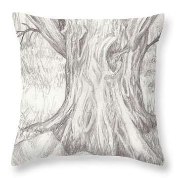 Big Tree Throw Pillow by Ruth Renshaw