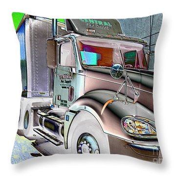 Big Truck Throw Pillow