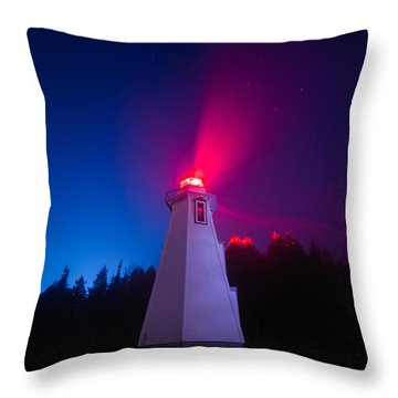 Big Tub Lighthouse In The Fog  Throw Pillow