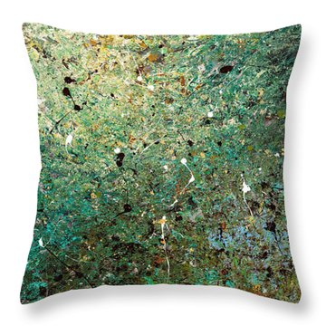 Throw Pillow featuring the painting Big Universe - Abstract Art by Carmen Guedez