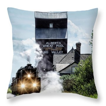 Big Valley Steam Throw Pillow