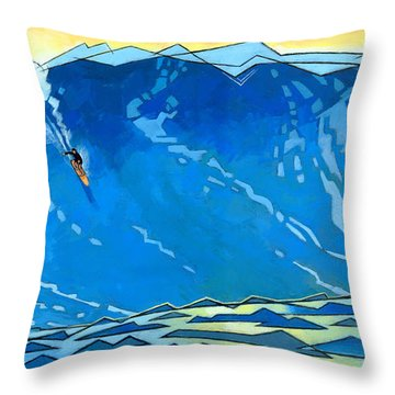 Big Wave Throw Pillow by Douglas Simonson