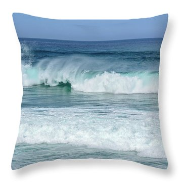 Big Waves Throw Pillow by Marion McCristall