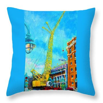Throw Pillow featuring the painting Big Yellow by Les Leffingwell