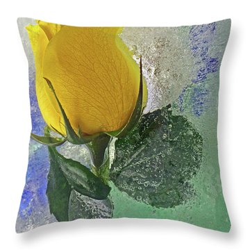 Throw Pillow featuring the digital art Big Yellow by Terry Foster