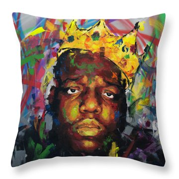 Throw Pillow featuring the painting Biggy Smalls II by Richard Day
