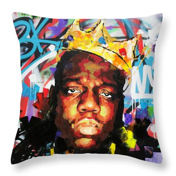 Throw Pillow featuring the painting Biggy Smalls IIi by Richard Day