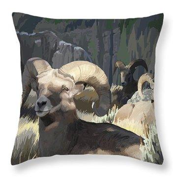 Bighorn Boys Throw Pillow