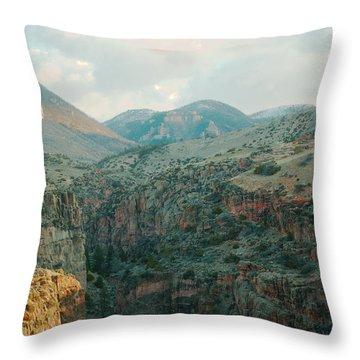 Bighorn National Forest Throw Pillow