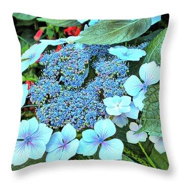 Throw Pillow featuring the photograph Bigleaf Hydrangea by Richard Goldman