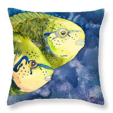Bignose Unicornfish Throw Pillow by Tanya L Haynes - Printscapes