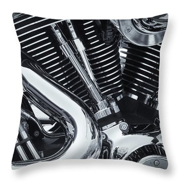 Bike Chrome Throw Pillow