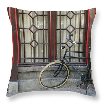 Bike In Amsterdam Throw Pillow