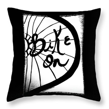 Bike On Throw Pillow