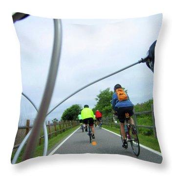 Bike Path Throw Pillow