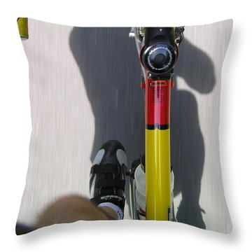 Bike Perspective Throw Pillow